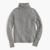 J.Crew Womens Petite Classic Turtleneck Sweater In Wool-Cashmere Blend