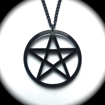 Black Pentagram Necklace
