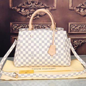 LV Women Shopping Bag Leather Satchel Crossbody Shoulder Bag-13