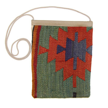 Orpha Multi Striped Pattern Kilim Bag