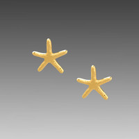 Gorjana Starfish Stud Earrings in Gold from REVOLVEclothing.com