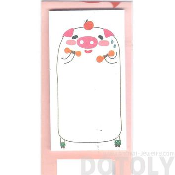 Illustrated Pig Piglet Farm Animal Themed Sticky Memo Post-it Pad | DOTOLY