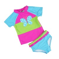 Children's Swimsuit Girl Swimwear Butterfly Embroidery Girls Swimsuit Kids Swimming Suit For Girls Beachwear Bathing Suits