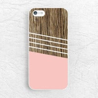 Coral Pink Geometric striped wood print Phone Case for iPhone 6 iPhone 5s 5c 4 4s, Sony z1 z3 compact, LG g3 g2 nexus 5, Moto X Moto G -G2