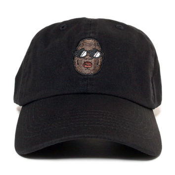 Biggie Dad Hat In Black - Low Stock