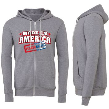 Made in America With Puertorican Parts Zipper Hoodie