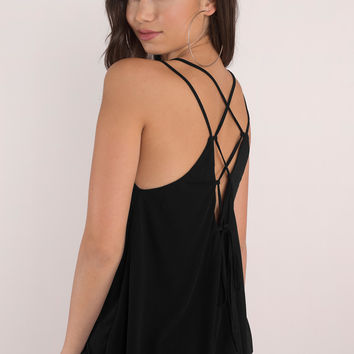 Jess Lace Up Tank Top