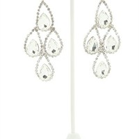 Dangling Earrings with Teardrop Design