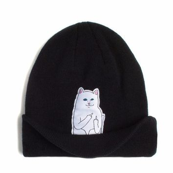winter spring beanie new style cat wool knit hat hip hop hedging