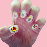 90s Nick Nail Decals/ Nail Wraps/ Nail Art/ Nickelodeon TV/ All That/ Rugrats/ Hey Arnold/ CatDog/ Rocko's Modern Life