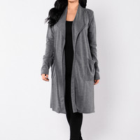 Drape Shape Duster - Navy