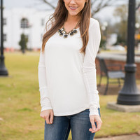 Safe Place Tee, Ivory