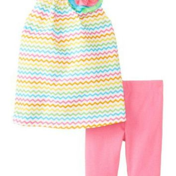 Mud Pie-Colorful Tunic & Legging Set,  (12-18 Mth)
