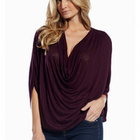Elan Cowl Neck Top-size SMALL ONLY