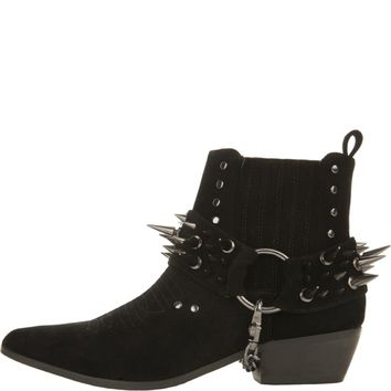 Y.R.U for Women: Laso Spikey Black Heeled Booties