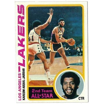 1978-79 Topps #110 Kareem Abdul-Jabbar, NBA Scoring Legend, NM