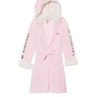 NEW COZY! Bling Sherpa Lined Robe - PINK - Victoria's Secret