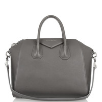 Givenchy | Medium Antigona bag in gray leather | NET-A-PORTER.COM