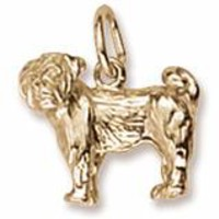 Pug Charm In Yellow Gold