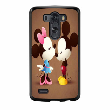 Mickey And Minnie Mouse Love Kissing LG G3 Case