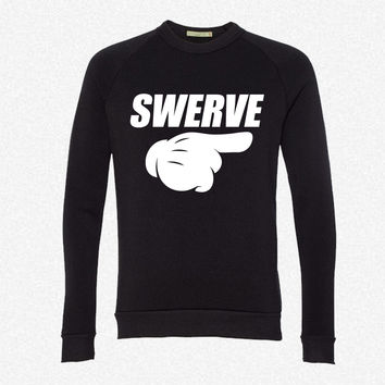Swerve fleece crewneck sweatshirt