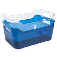 small clear storage bin 9.5in x 6.5in | Five Below