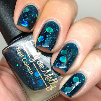 Nail polish  Oceanic Forces holographic dot by EmilydeMolly