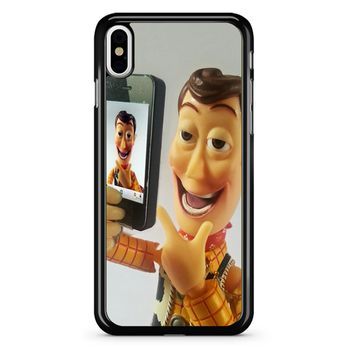 Disneyland Toy Story Woody Selfie iPhone X Case