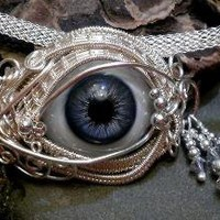 Gothic Steampunk Itty Bitty Evil Eye in by twistedsisterarts