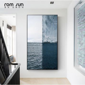 Nordic Style Poster Ocean Landscape Canvas Painting Wall Art Pictures For Living Room Home Decor Posters And Prints HD Modern