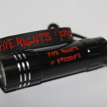 Foxy Repellent Flashlight  FIVE NIGHTS at FREDDY'S FnAF w/ Matching Bracelet!! FNaF Party Supplies Favors