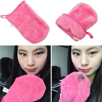 DCCKKFQ GUJHUI Reusable Microfiber Facial Cloth Pads Face Makeup Remover Cleansing Glove Tool