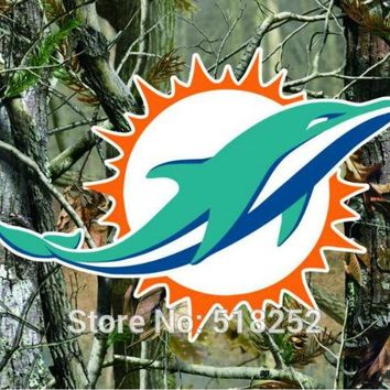 Miami Dolphins real tree camo Flag 150X90CM NFL 3x5 FT Banner 100D Polyester Custom flag grommets 6038,free shipping