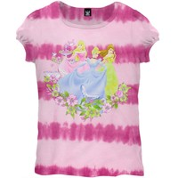 Disney Princesses - Garden Tie Dye Girls Juvy T-Shirt