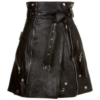 Alexander McQueen Leather Mini Skirt | Harrods.com