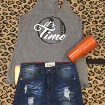 Baseball Time Grey women's Tank