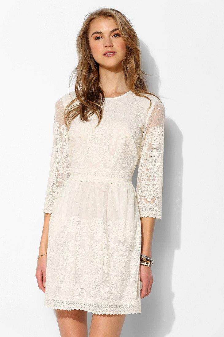 Dv by dolce vita val 3 4 sleeve lace from urban outfitters for Urban outfitters wedding dresses