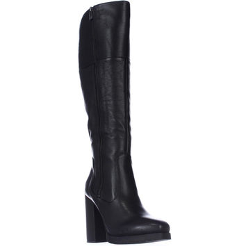 Circus by Sam Edelman Hollands Tall Square Toe Boots - Black