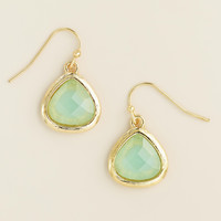 Gold and Mint Faceted Drop Earrings - World Market