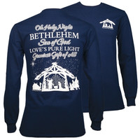 Southern Couture Classic Oh Holy Night Faith Long Sleeve T-Shirt