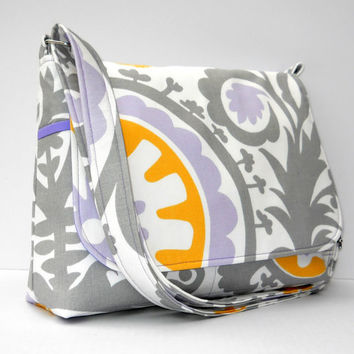 Handmade Fabric Purse / Messenger Bag  by JHFabricCreations