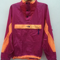 Vintage 90s The North Face Windbreaker Pullover lightweight Jacket Neon Colors Size M