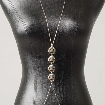 Cut-Out Triangle Body Chain