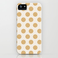 Glittering Gold Dots iPhone & iPod Case by Allyson Johnson