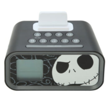 The Nightmare Before Christmas iHome Jack Skellington Dual Alarm Clock Speaker System