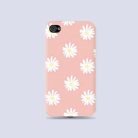 Adorable pastel Daisy pattern printed Plastic Hard Case - iphone 5/5s - iphone 4 - iphone 4s - Samsung S3 - Samsung S4 - Samsung Note 2