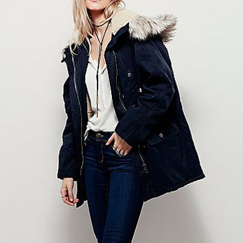 Free People Womens Up in the Hills Oversized Parka