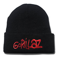HAIHONG Gorillaz Band Logo Beanie Fashion Unisex Embroidery Beanies Skullies Knitted Hats Skull Caps