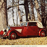 1974 Print Vintage 1936 Park Ward Drophead Coupe Automobile Car Richard AUT1