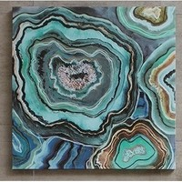 Agate Stone Slices Abstract Art